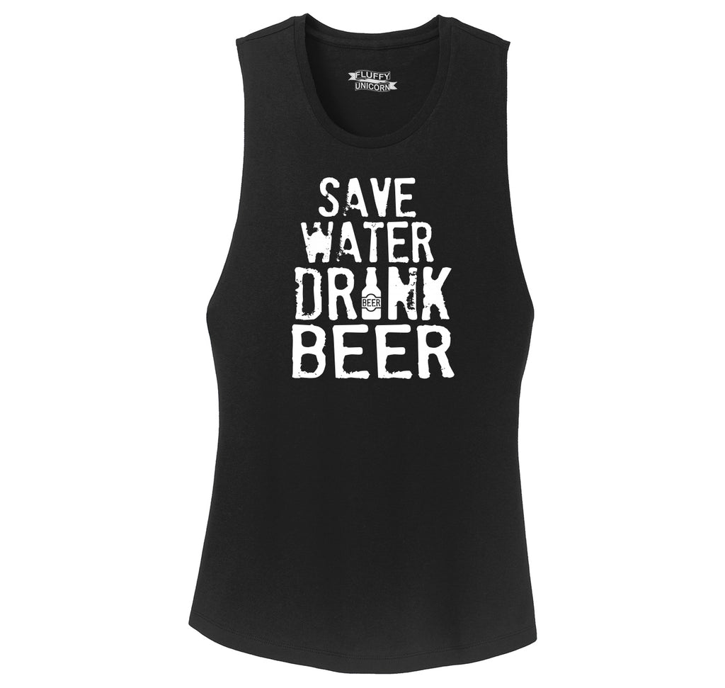 Save Water Drink Beer Ladies Festival Tank Top