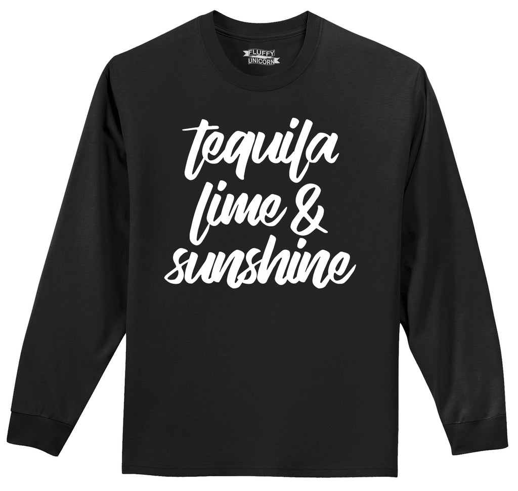 Tequila Lime and Sunshine Mens Long Sleeve Tee Shirt