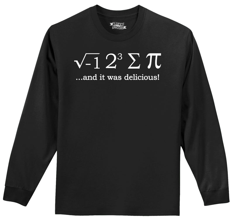 I 8 Sum Pi Mens Long Sleeve Tee Shirt