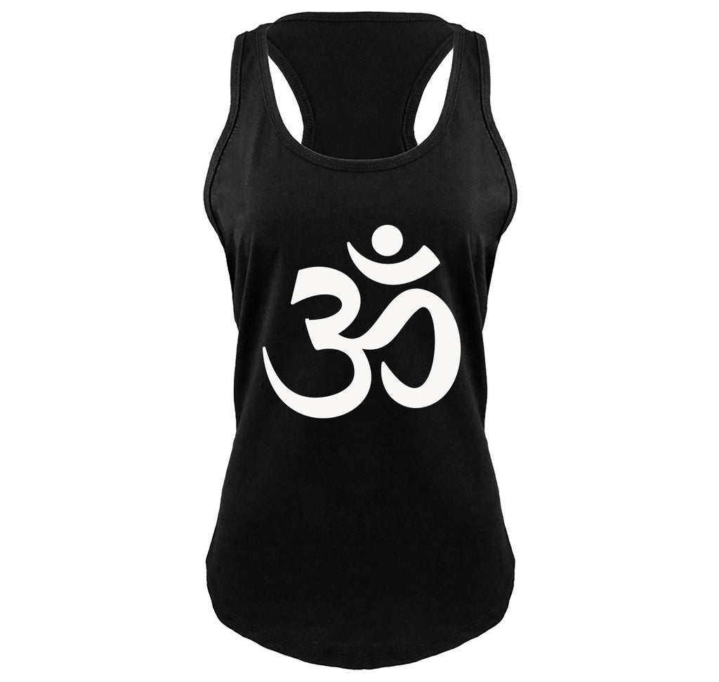 Om Hindu Religion Ladies Gathered Racerback Tank Top