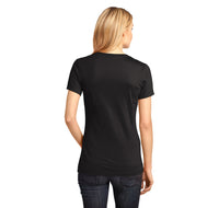 For A Second There You Bored Me To Death Ladies Ringspun V-Neck Tee