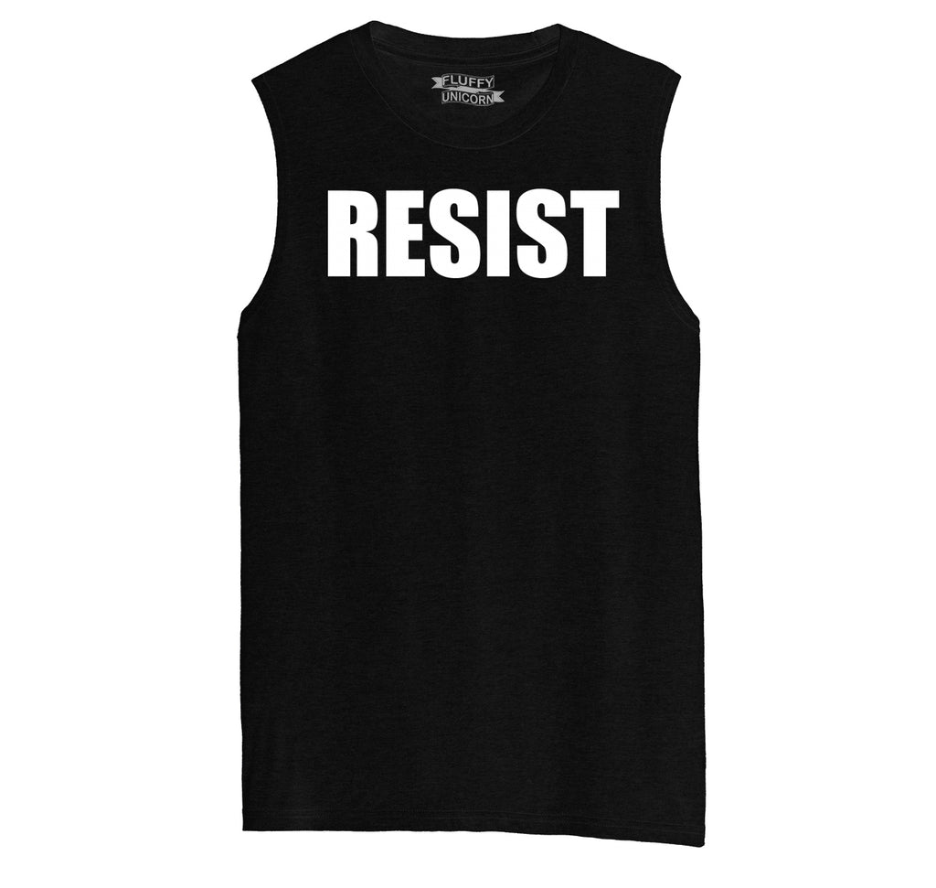 Resist Tee Anti Donald Trump Political Protest Trump Rally Tee Mens Muscle Tank Muscle Tee