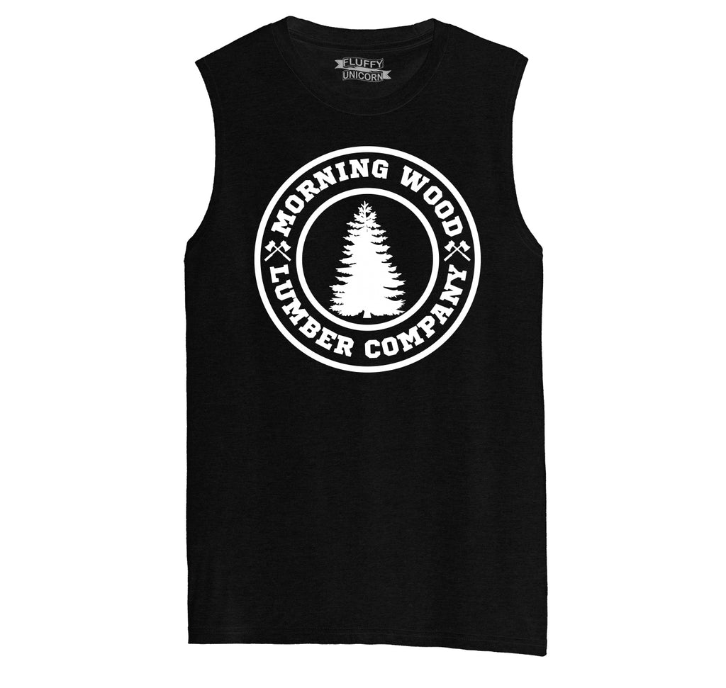 Morning Wood Lumber Company Mens Muscle Tank Muscle Tee