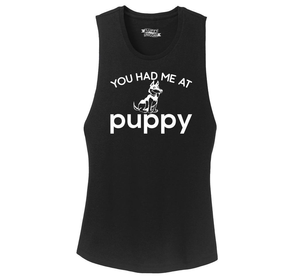 You Had Me At Puppy Ladies Festival Tank Top