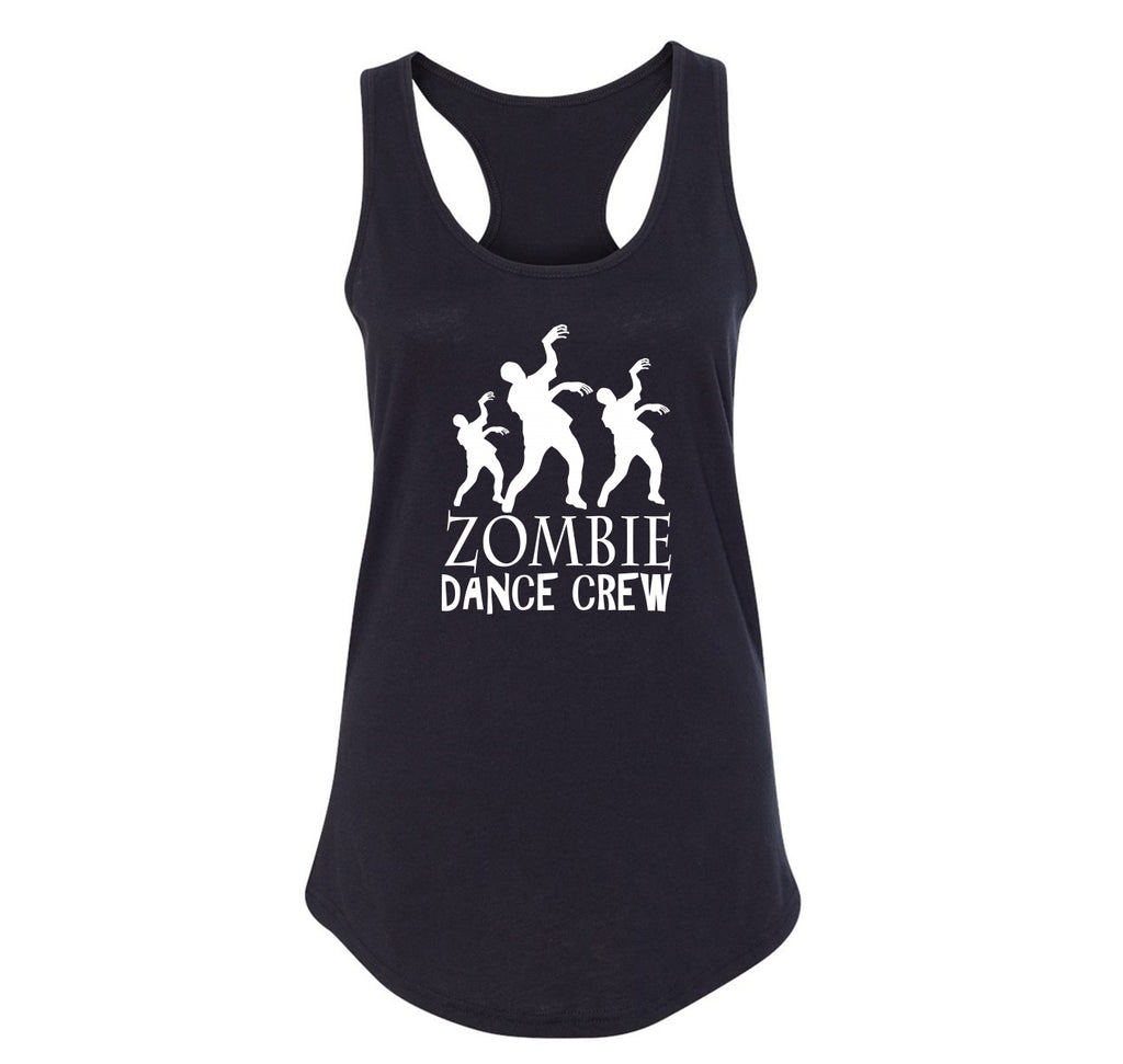 Zombie Dance Crew Ladies Racerback Tank Top