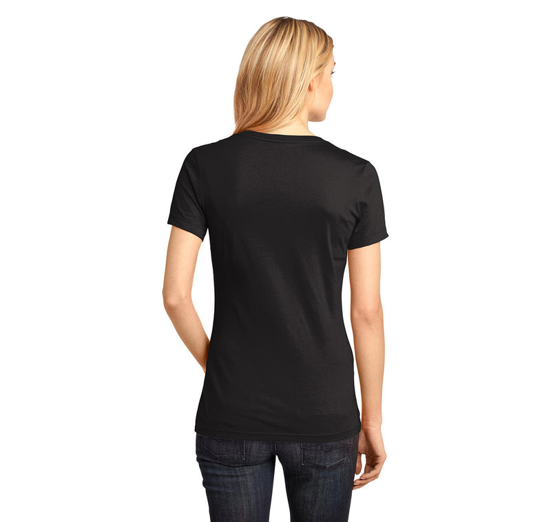 Music Connects People Ladies Ringspun V-Neck Tee