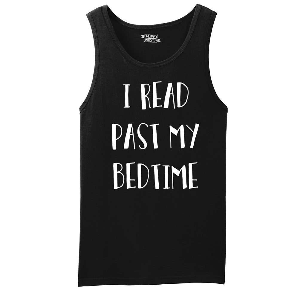 I Read Past My Bedtime Mens Sleeveless Tank Top