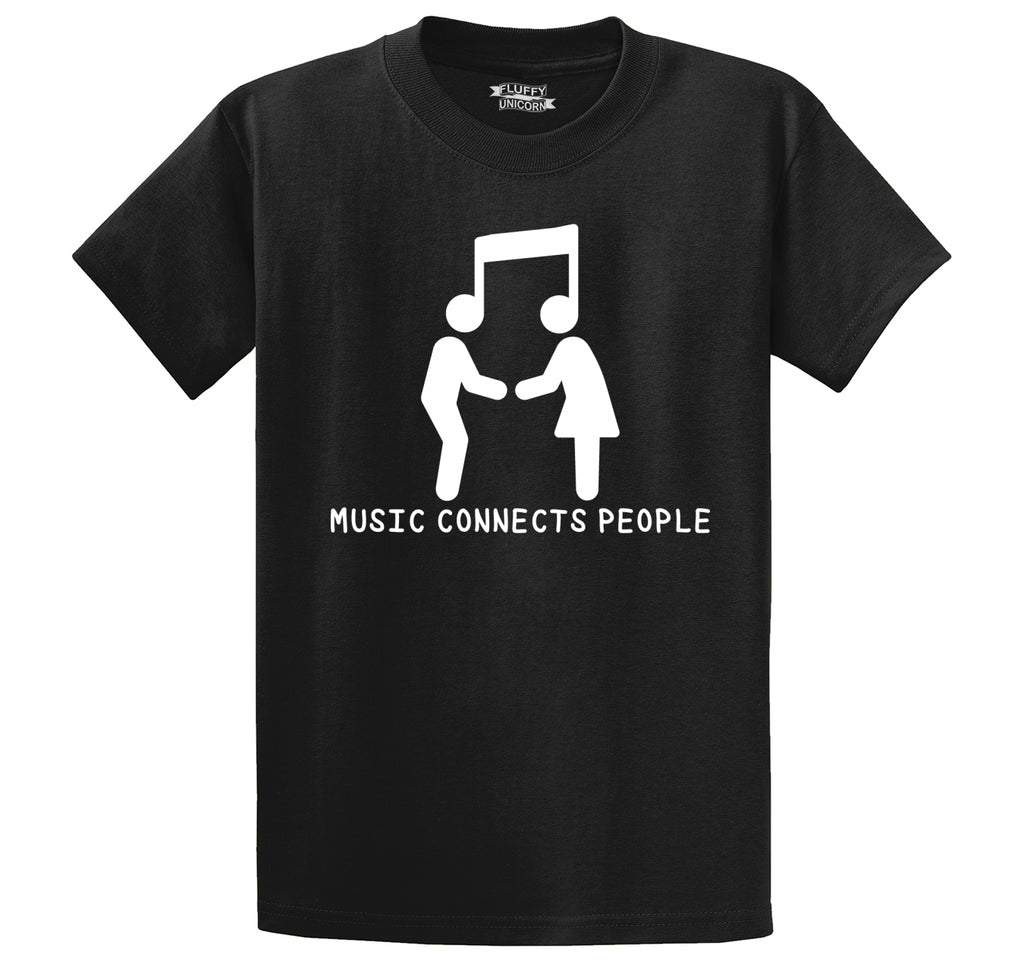 Music Connects People Men's Heavyweight Big & Tall Cotton Tee Shirt