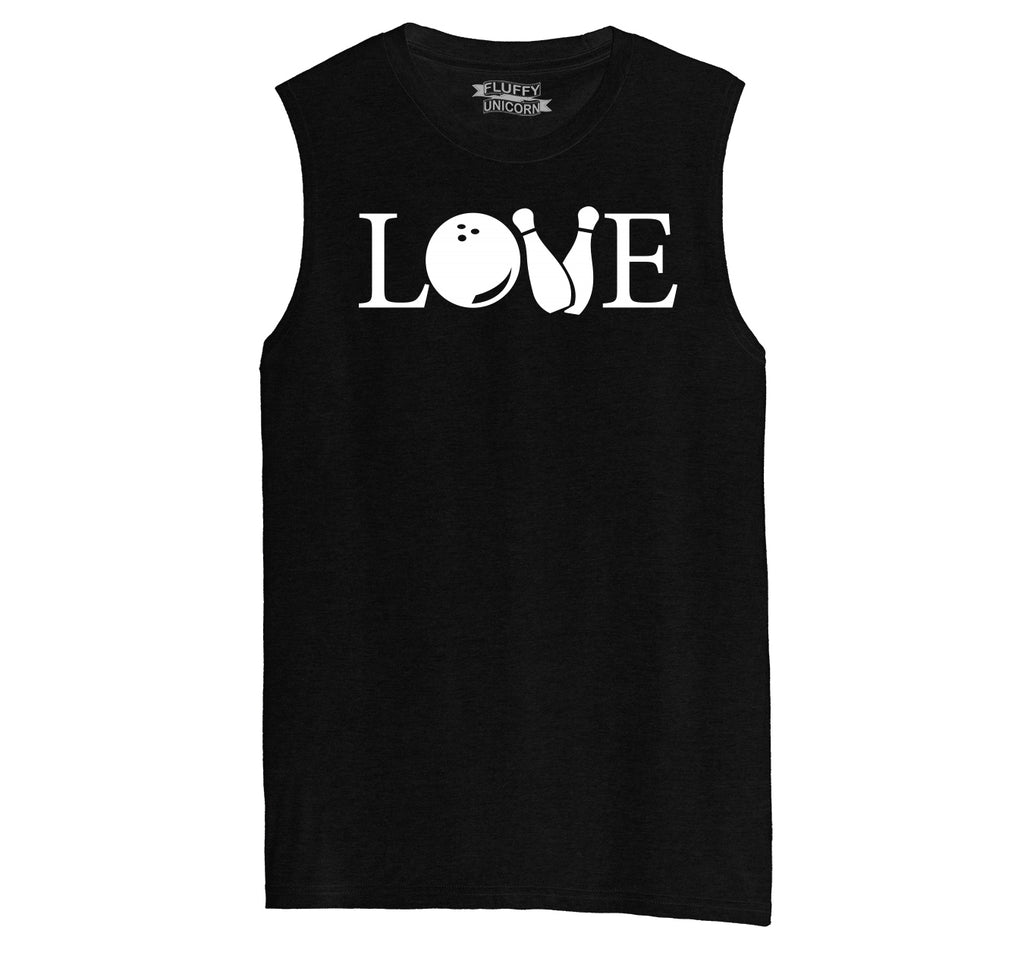 Love Bowling Mens Muscle Tank Muscle Tee