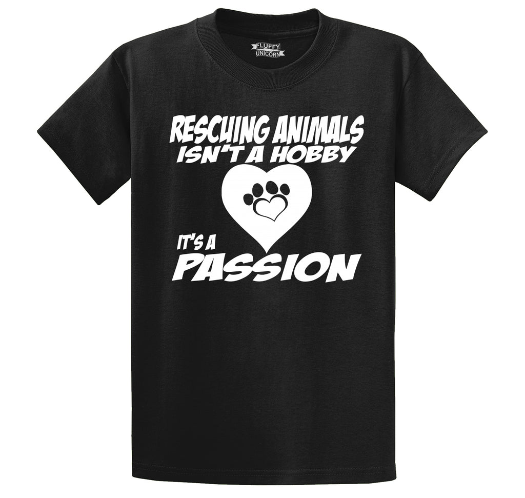 Rescuing Animals Is A Passion Men's Heavyweight Big & Tall Cotton Tee Shirt