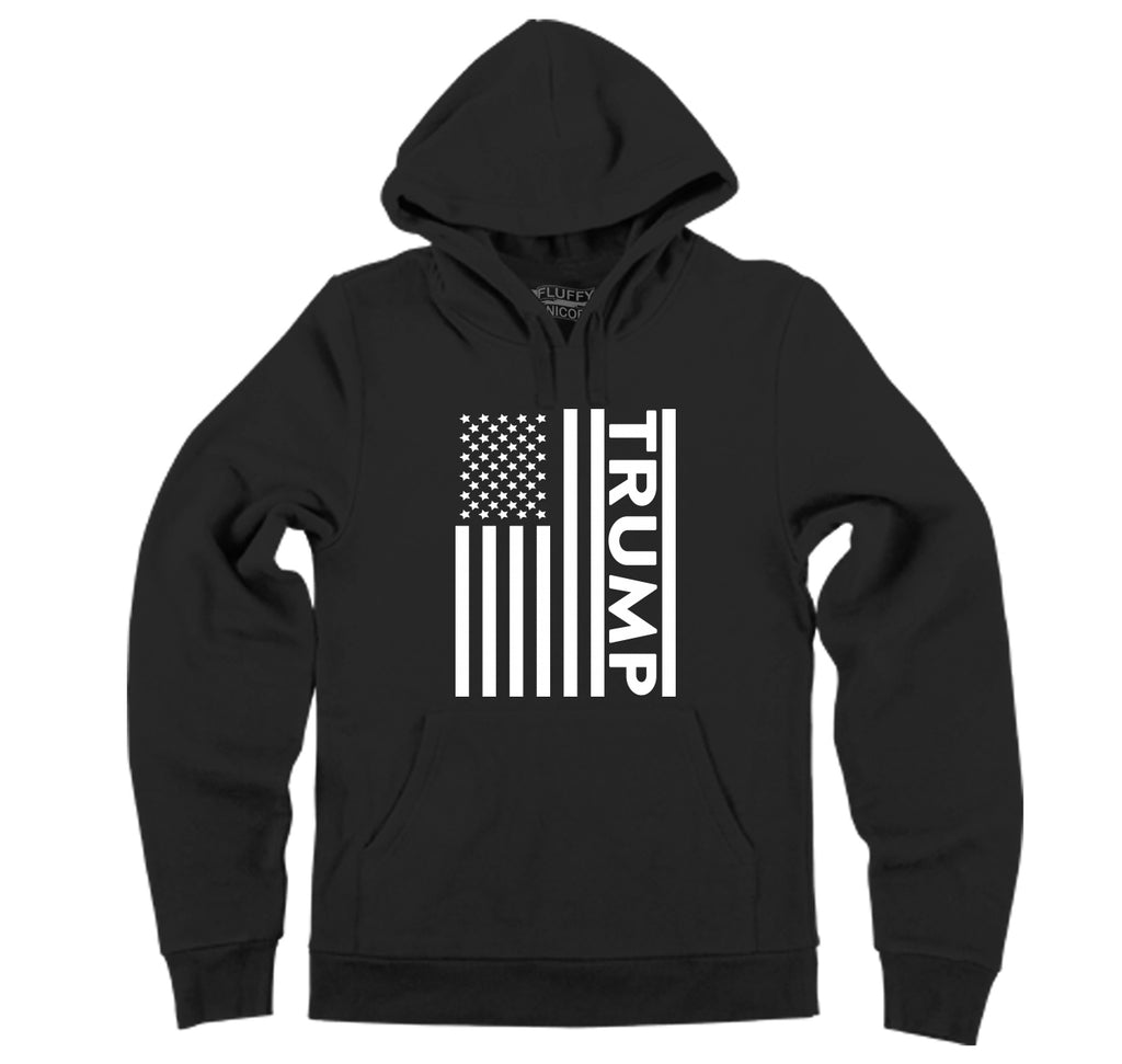 Trump American Flag Hooded Sweatshirt