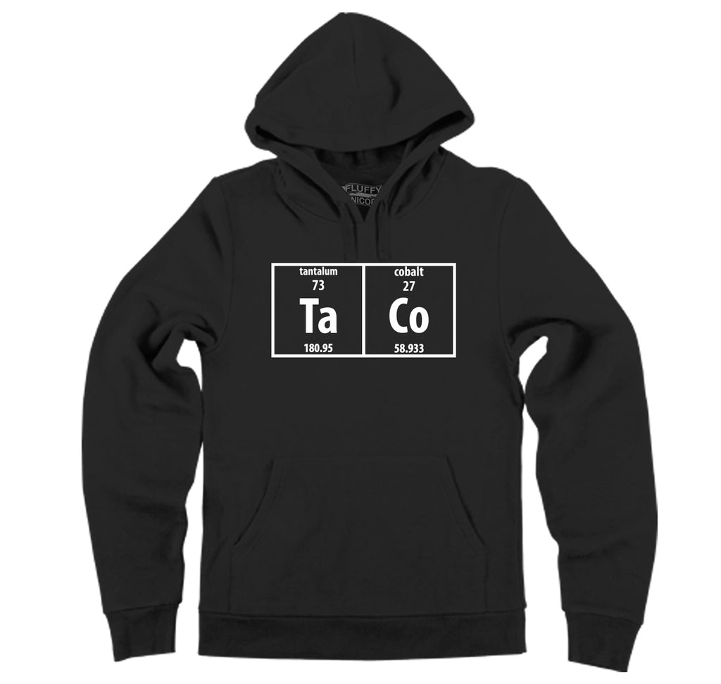 Taco Periodic Table Funny Science Shirt Geek Nerd College Hooded Sweatshirt