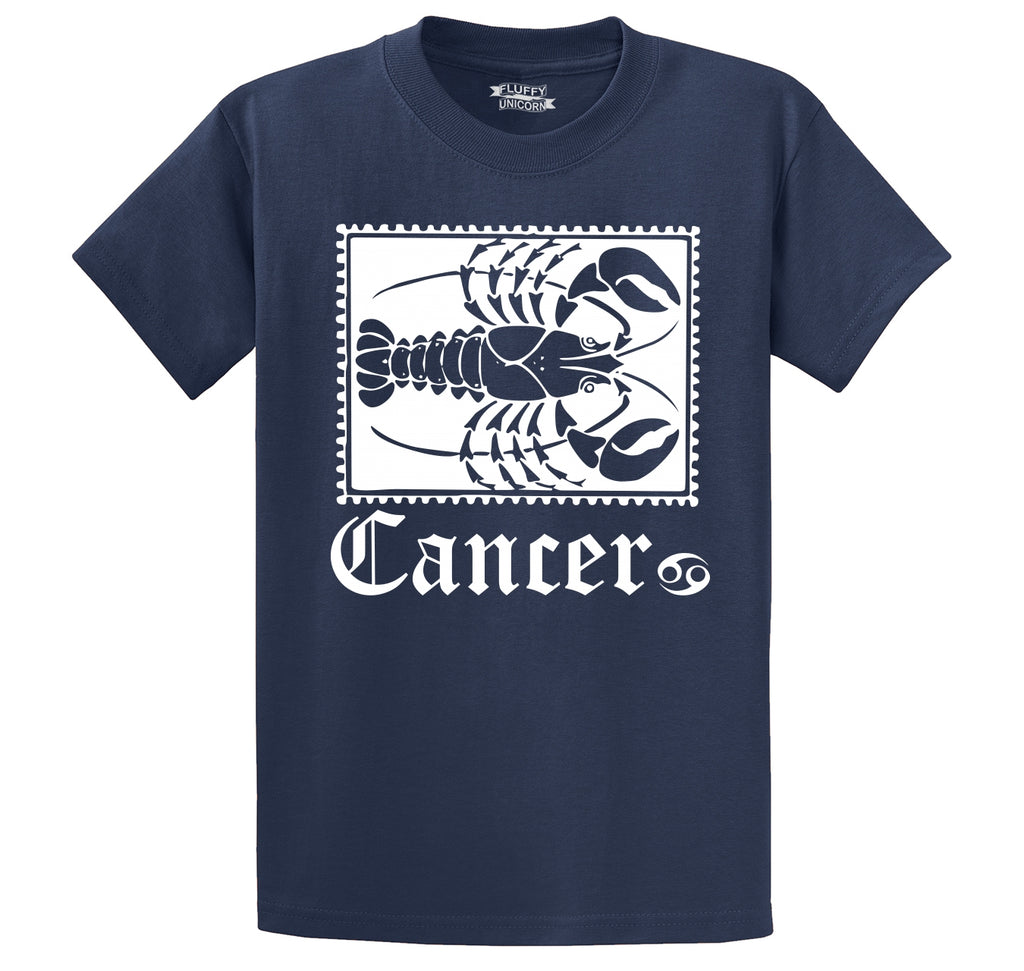 Horoscope Cancer Tee Men's Heavyweight Big & Tall Cotton Tee Shirt