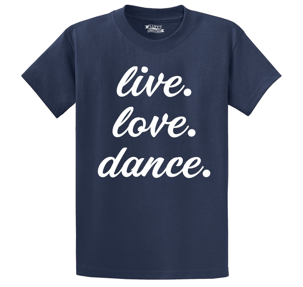 Live Love Dance Men's Heavyweight Cotton Tee Shirt