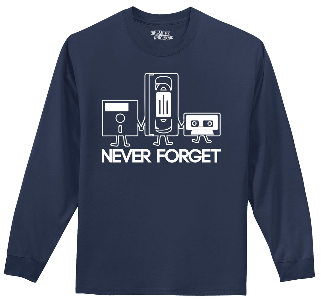 Never Forget Mens Long Sleeve Tee Shirt