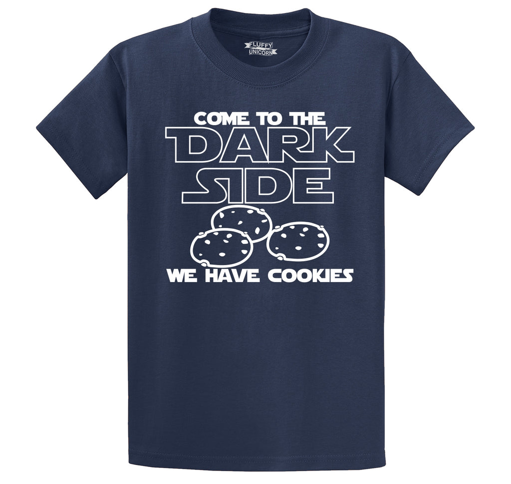 Come To Dark Side We Have Cookies Funny Tee Nerd Gamer Gift Tee Men's Heavyweight Cotton Tee Shirt