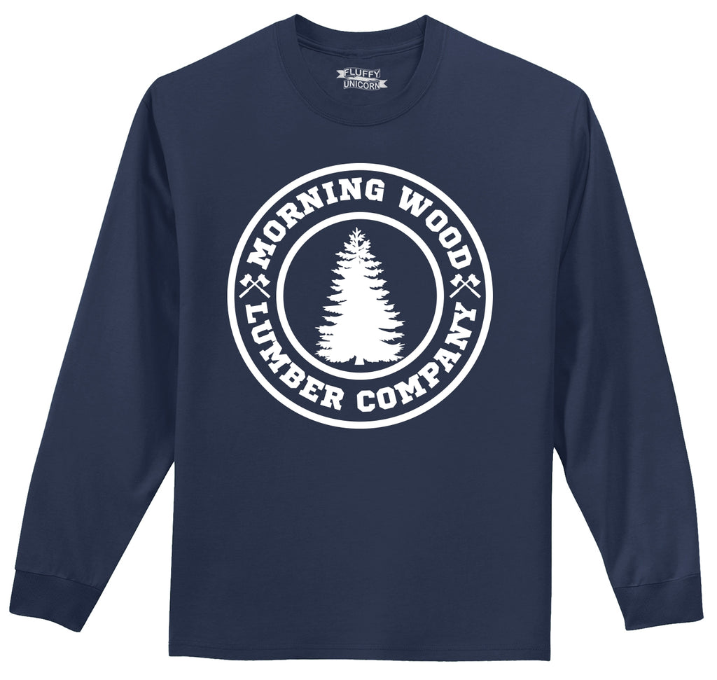 Morning Wood Lumber Company Mens Long Sleeve Tee Shirt