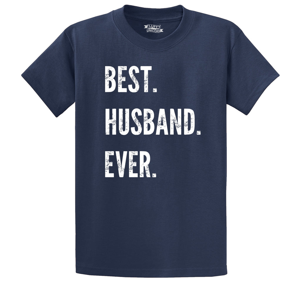 Best Husband Ever Valentines Day Holiday Gift Tee Men's Heavyweight Big & Tall Cotton Tee Shirt