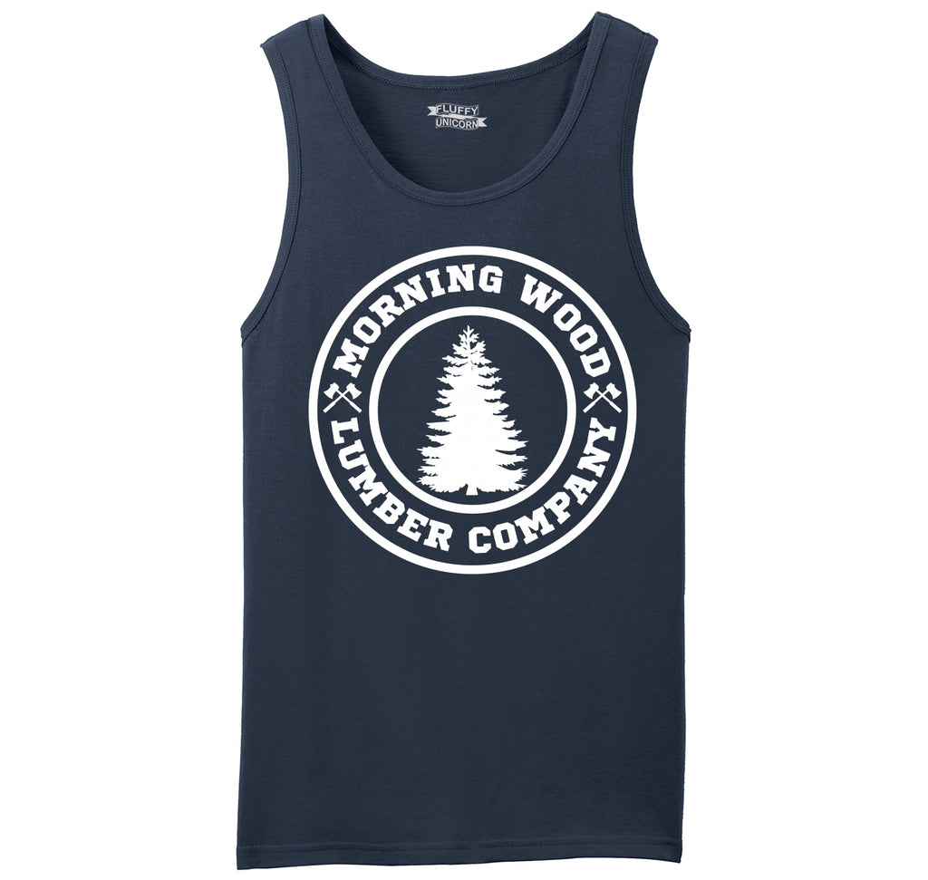 Morning Wood Lumber Company Mens Sleeveless Tank Top