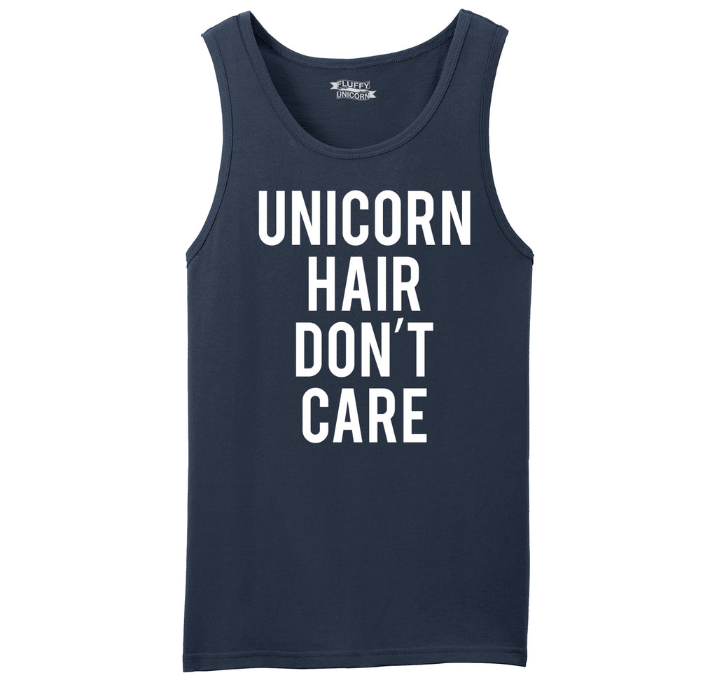 Unicorn Hair Don't Care Funny Unicorn Lover Gift Tee Mens Sleeveless Tank Top