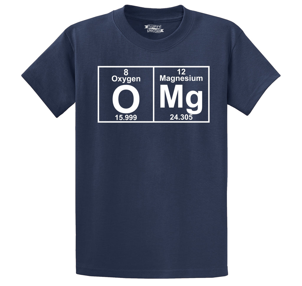 OMG Periodic Table Of Elements Men's Heavyweight Cotton Tee Shirt