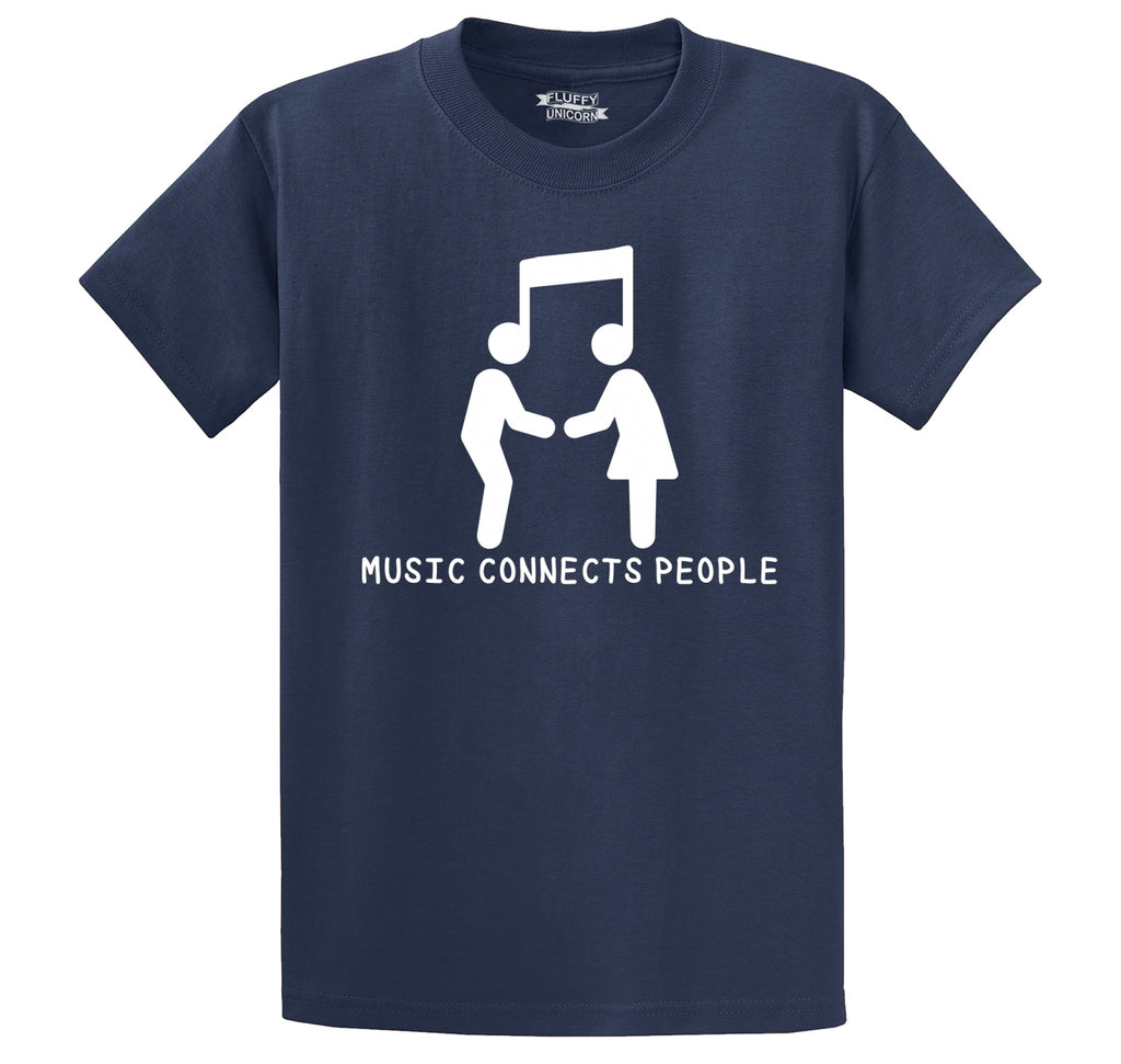 Music Connects People Men's Heavyweight Cotton Tee Shirt