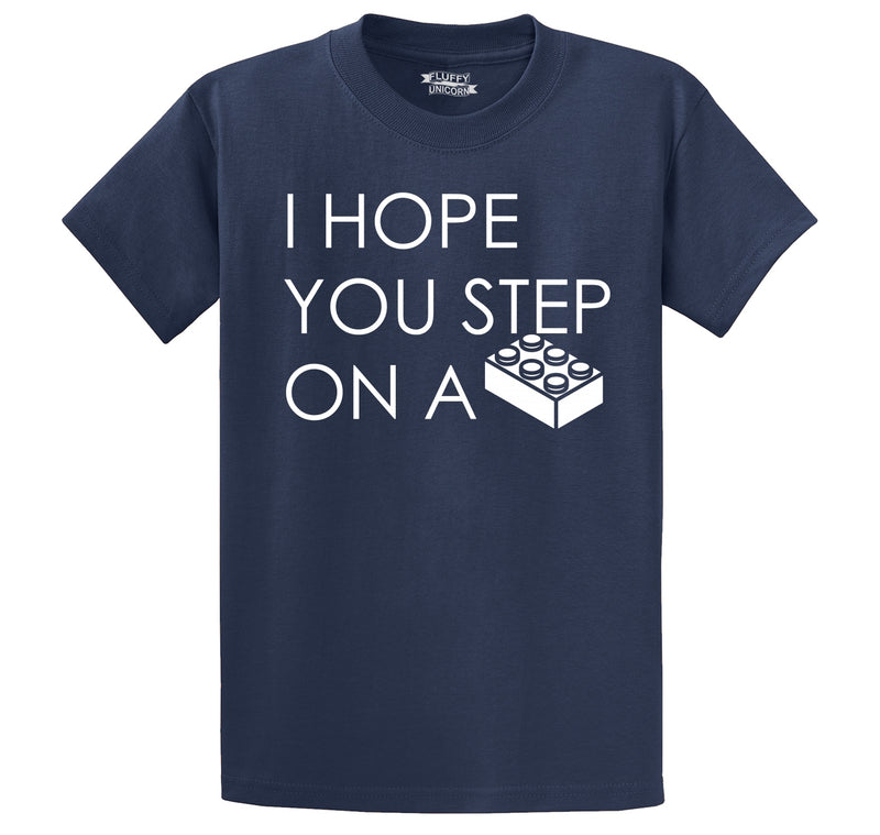 I Hope You Step On A Block Men's Heavyweight Cotton Tee Shirt