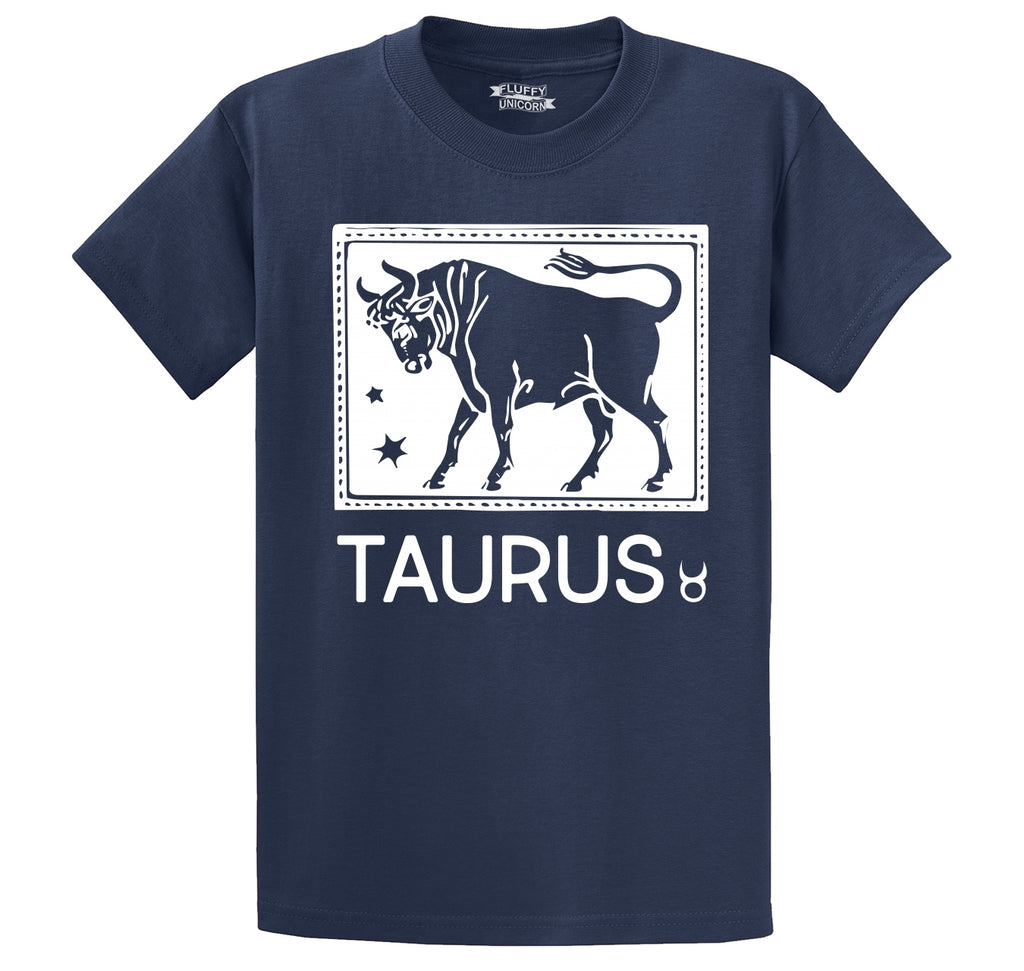 Taurus Horoscope Men's Heavyweight Big & Tall Cotton Tee Shirt