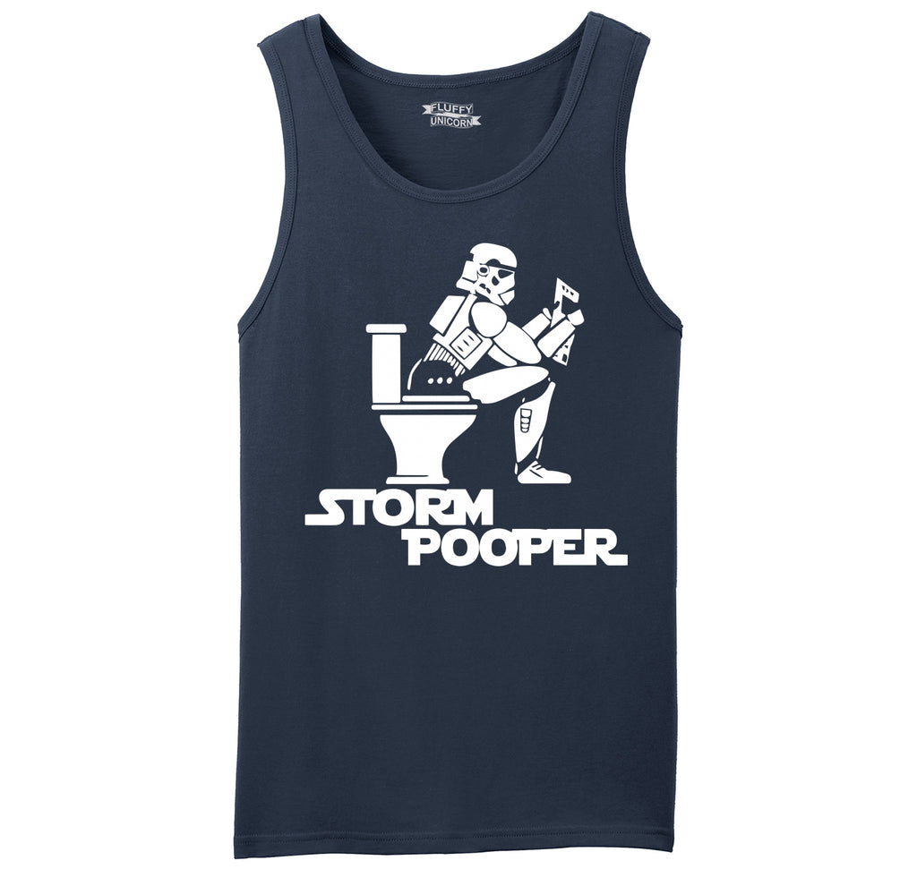 Storm Pooper Funny Star Movie Parody Shirt Mens Sleeveless Tank Top