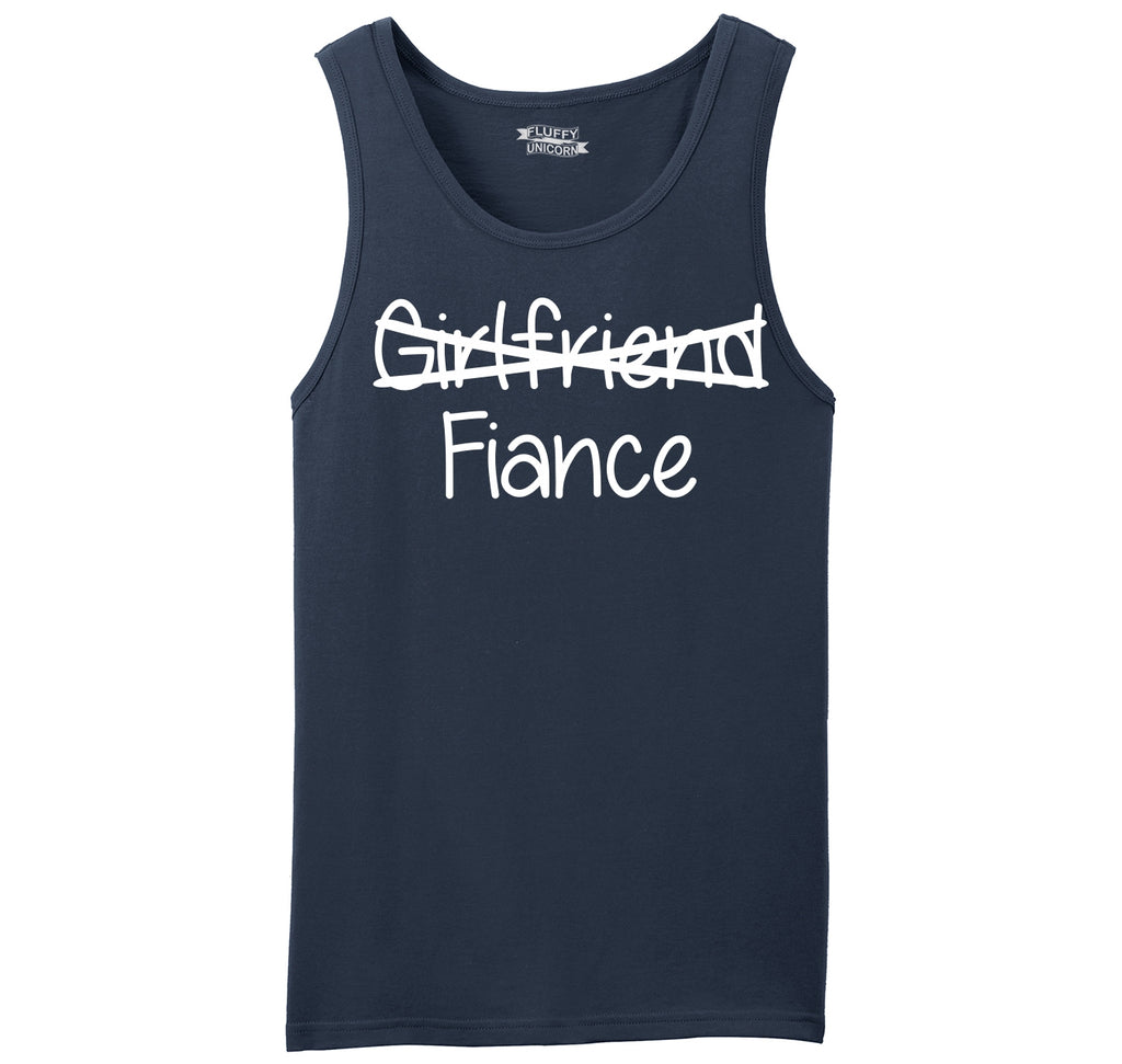 Girlfriend Crossed Out Fiance Mens Sleeveless Tank Top