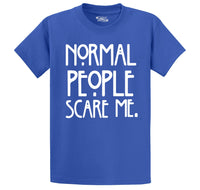 Normal People Scare Me Men's Heavyweight Cotton Tee Shirt