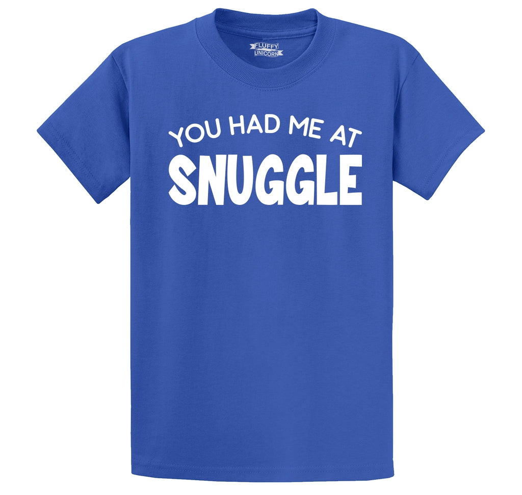 You Had Me At Snuggle Men's Heavyweight Cotton Tee Shirt
