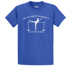 Favorite Workout At The Barre Men's Heavyweight Cotton Tee Shirt