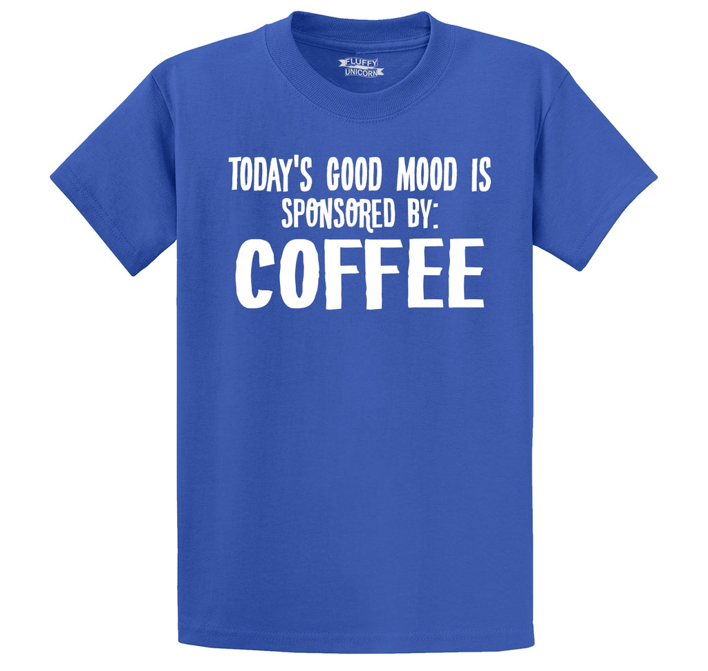 Todays Good Mood Sponsored By Coffee Men's Heavyweight Cotton Tee Shirt
