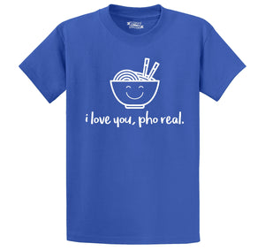 I Love You Pho Real Funny Asian Chinese Food Graphic Tee Men's Heavyweight Cotton Tee Shirt