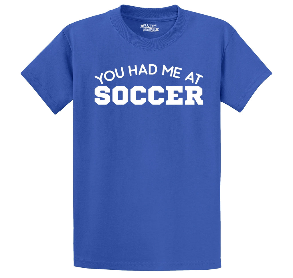You Had Me At Soccer Men's Heavyweight Cotton Tee Shirt