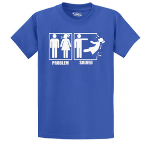 Problem Solved Men's Heavyweight Cotton Tee Shirt