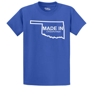 Made In Oklahoma Men's Heavyweight Big & Tall Cotton Tee Shirt