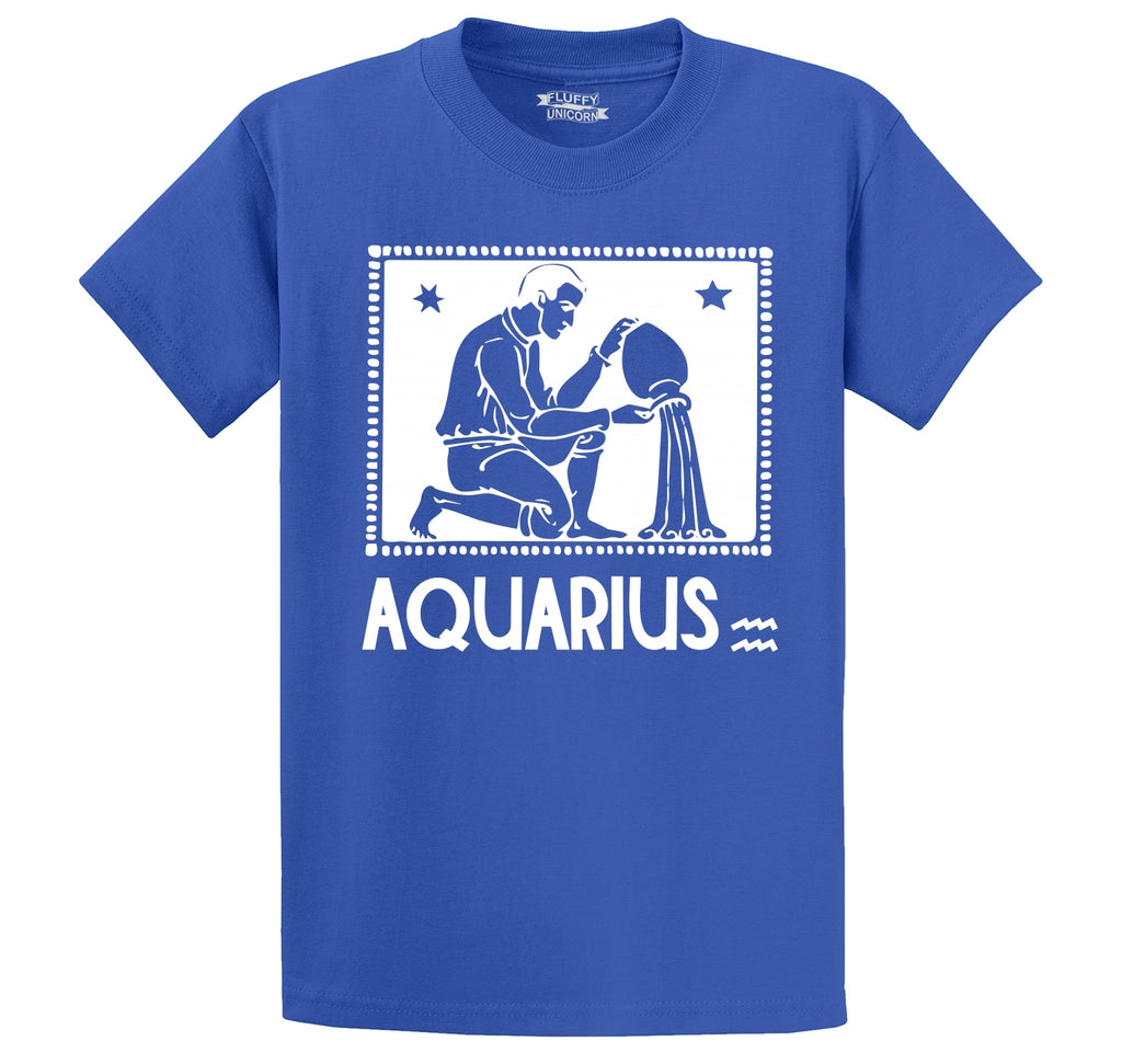 Horoscope Aquarius Tee Men's Heavyweight Cotton Tee Shirt
