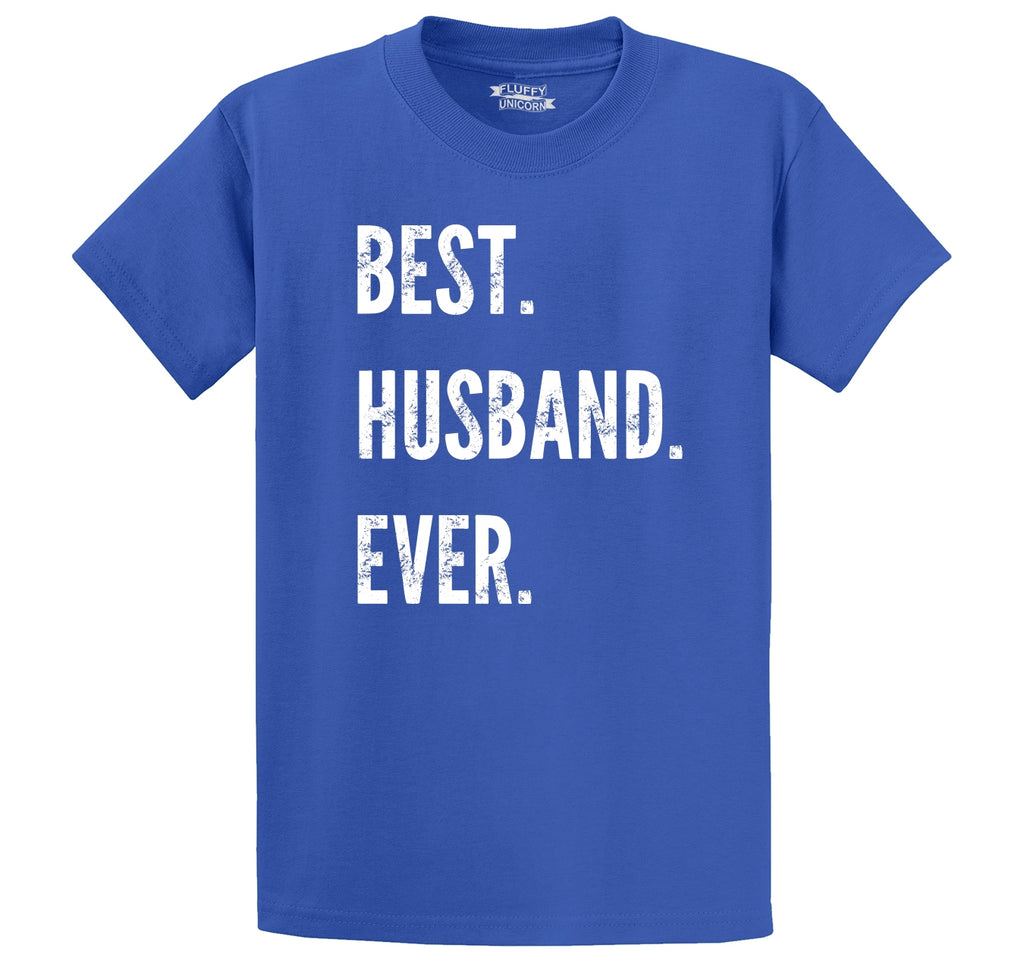 Best Husband Ever Valentines Day Holiday Gift Tee Men's Heavyweight Cotton Tee Shirt