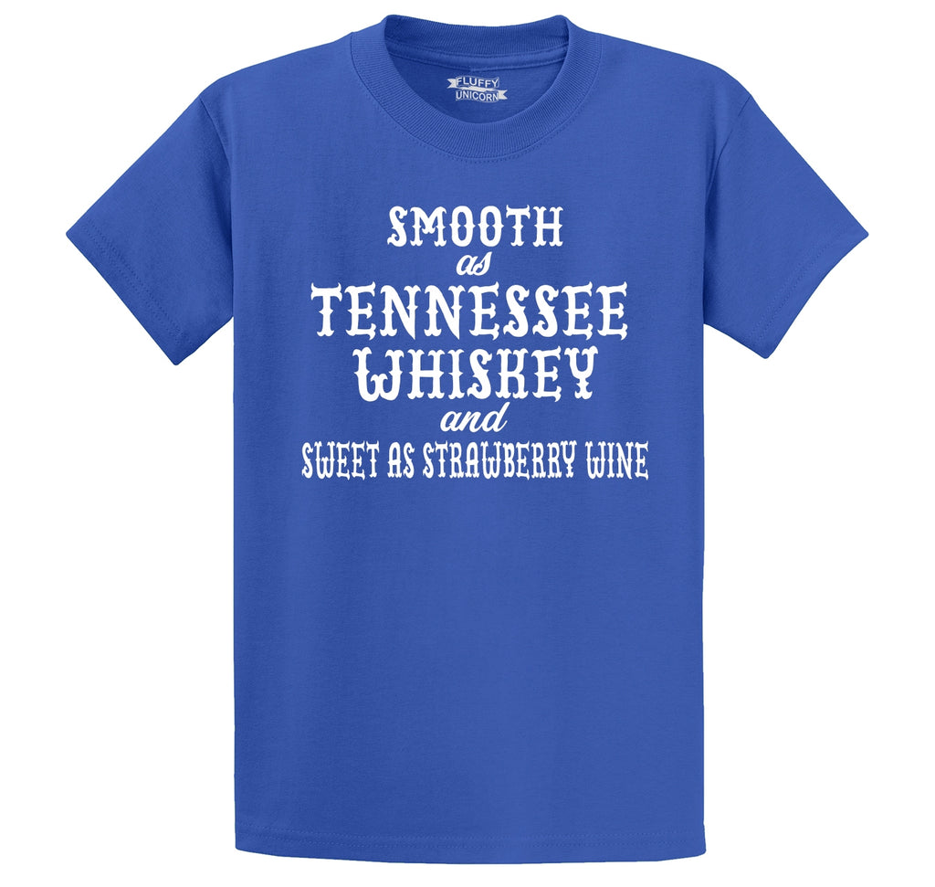 Smooth As Tennessee Whiskey Men's Heavyweight Big & Tall Cotton Tee Shirt