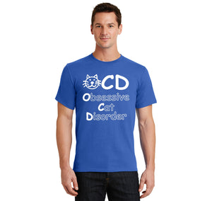 OCD Obsessive Cat Disorder Men's Heavyweight Cotton Tee Shirt
