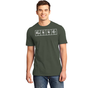 Runner - Periodic Table Of Elements Mens Ringspun Cotton Tee Shirt