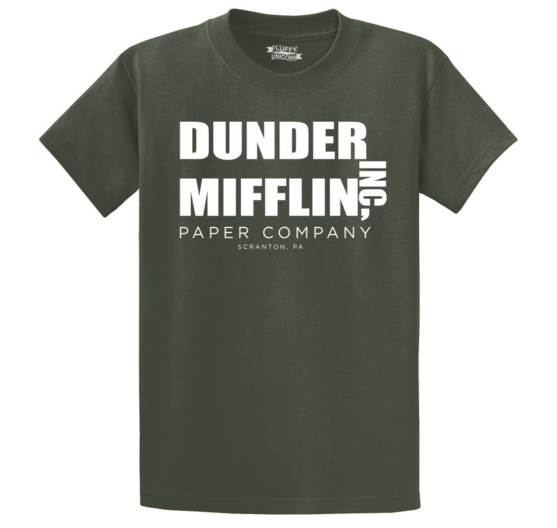 Dunder Mifflin Paper Company Men's Heavyweight Cotton Tee Shirt