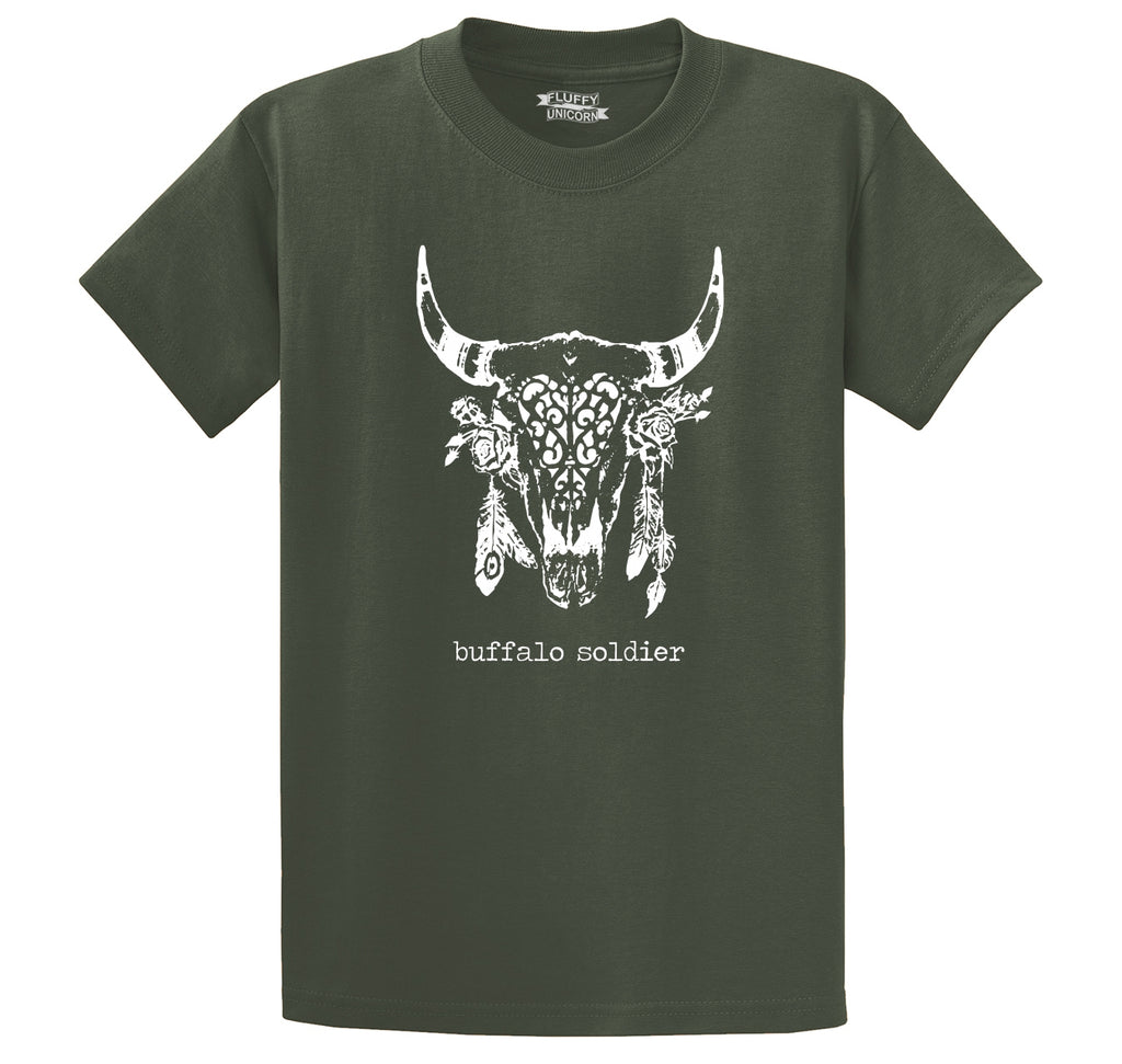 Buffalo Soldier T Shirt Hippie Stoner Music Tee Men's Heavyweight Big & Tall Cotton Tee Shirt