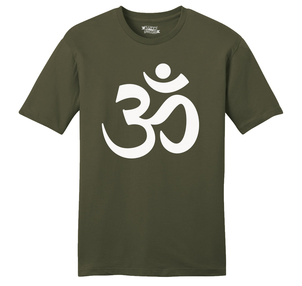 Om Hindu Religion Mens Ringspun Cotton Tee Shirt