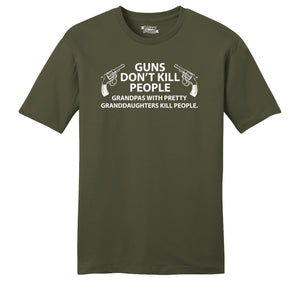Guns Don't Kill People Grandpas Mens Ringspun Cotton Tee Shirt