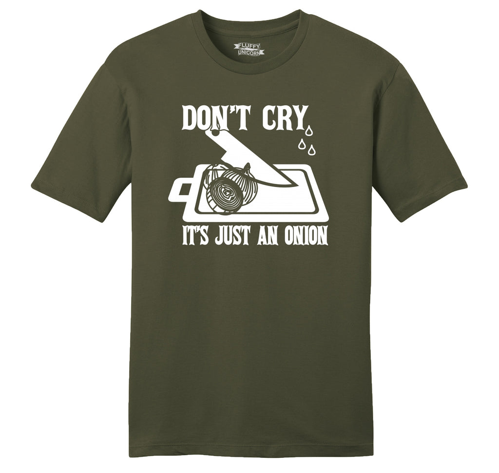 Don't Cry It's Just An Onion Mens Ringspun Cotton Tee Shirt