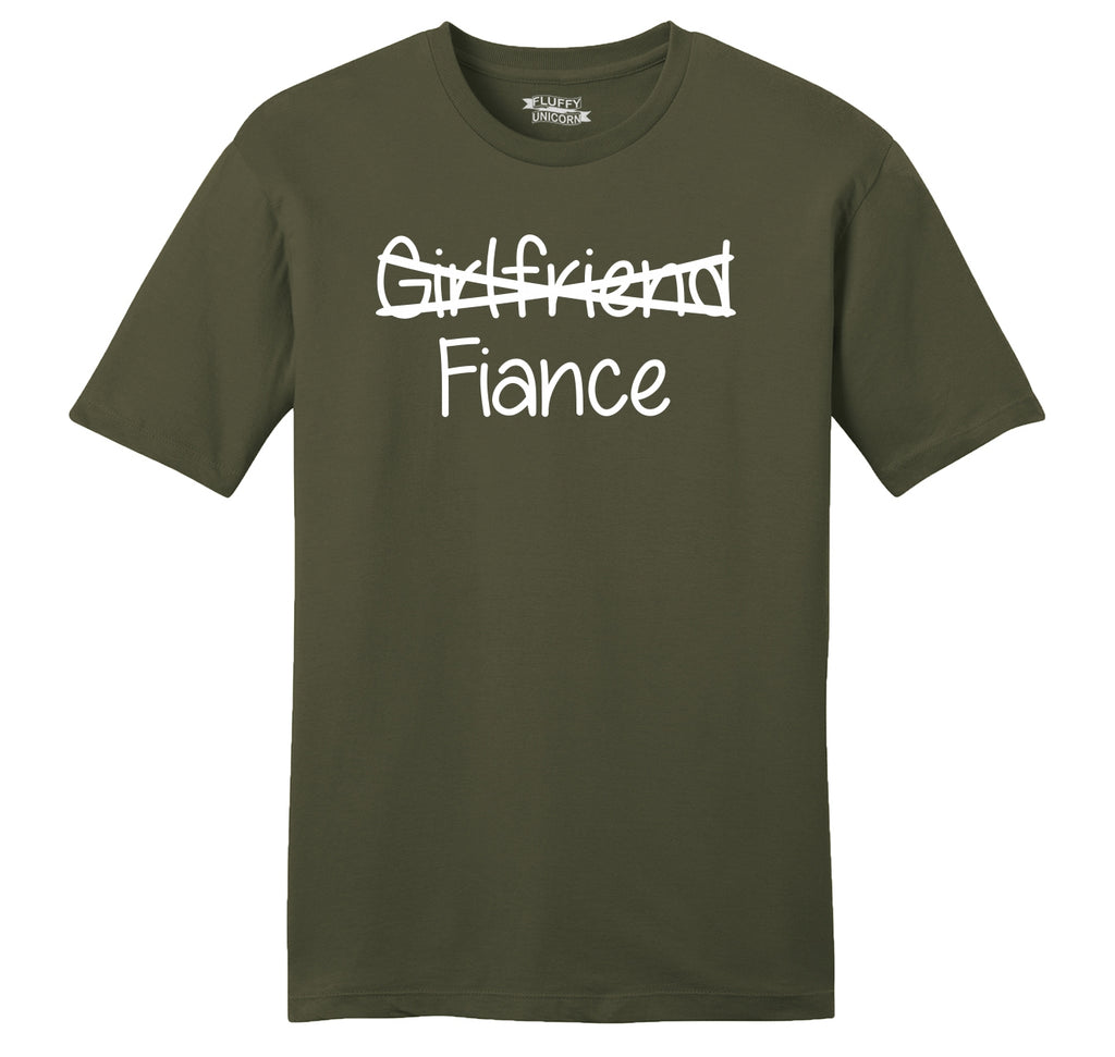 Girlfriend Crossed Out Fiance Mens Ringspun Cotton Tee Shirt