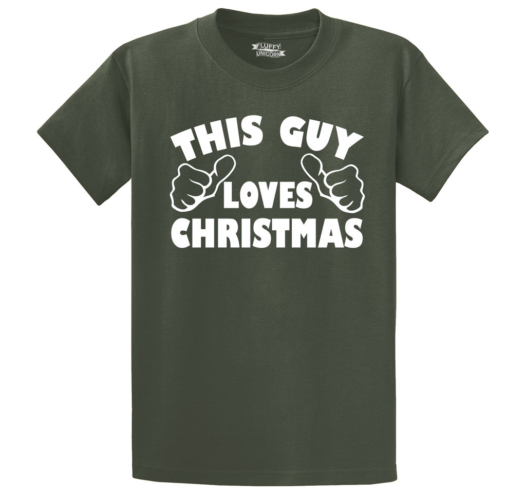 This Guy Loves Christmas Men's Heavyweight Cotton Tee Shirt